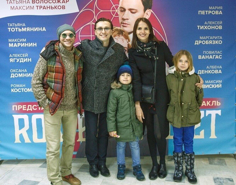 Сергій Безруков із позашлюбними дітьми.