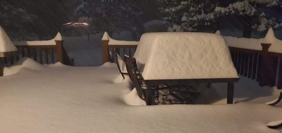Снежные завалы в штате Нью-Йорк