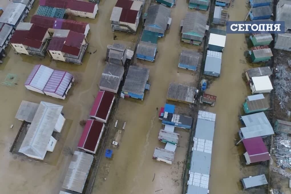 Кирилівка під водою після сильного шторму