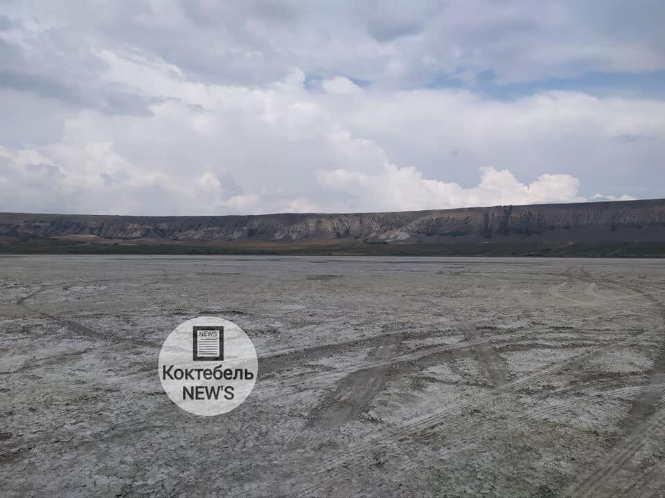 Озеро практически пересохло