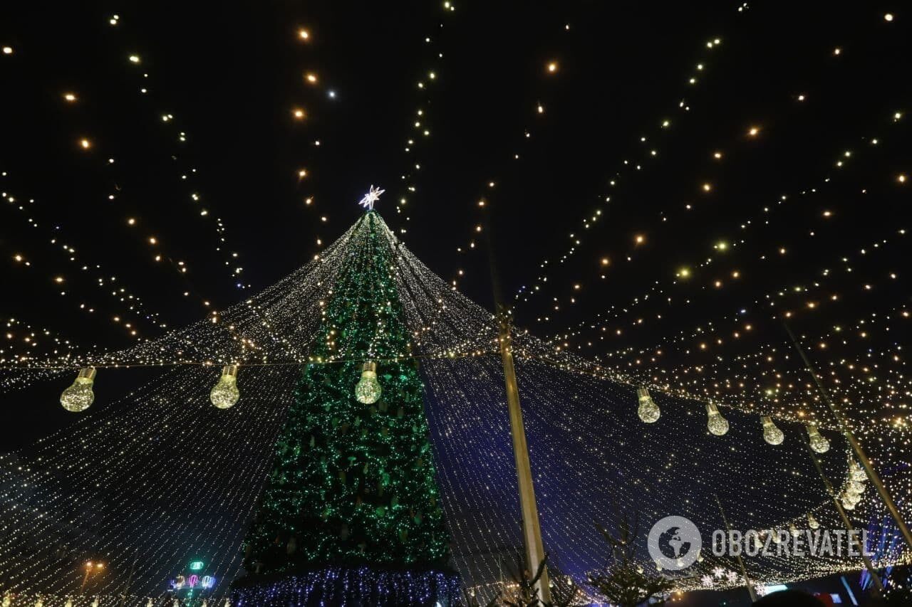 Новогодние украшения в Киеве