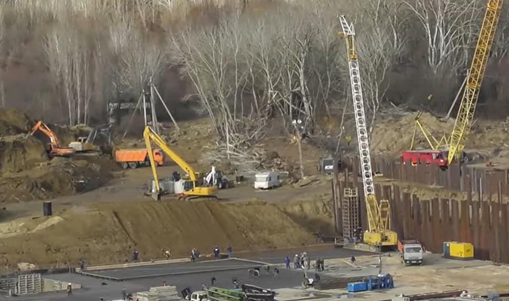 Кадры со строительства водозабора в Крыму