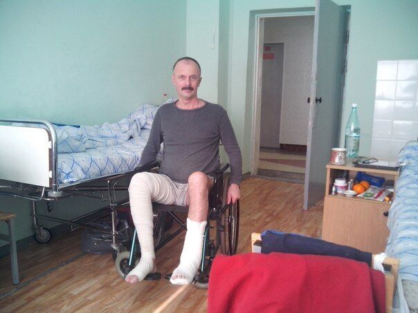 Альберт Стасенок после ранения