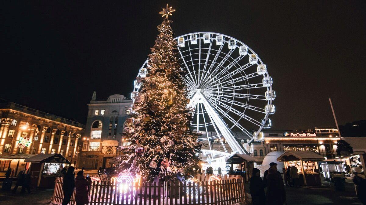 Контрактова площа на Новий рік.