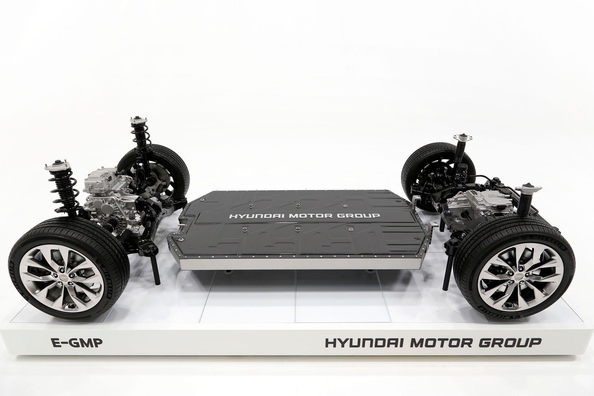 Платформа E-GMPможет использоваться для подключения внешних источников потребления электроэнергии и даже для подзарядки других электромобилей