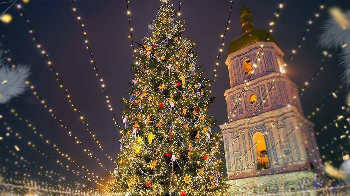 Софійська площа на Новий рік.