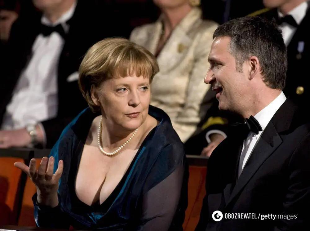 Ангела Меркель і прем'єр-міністр Норвегії, театр Осло, 2008 года