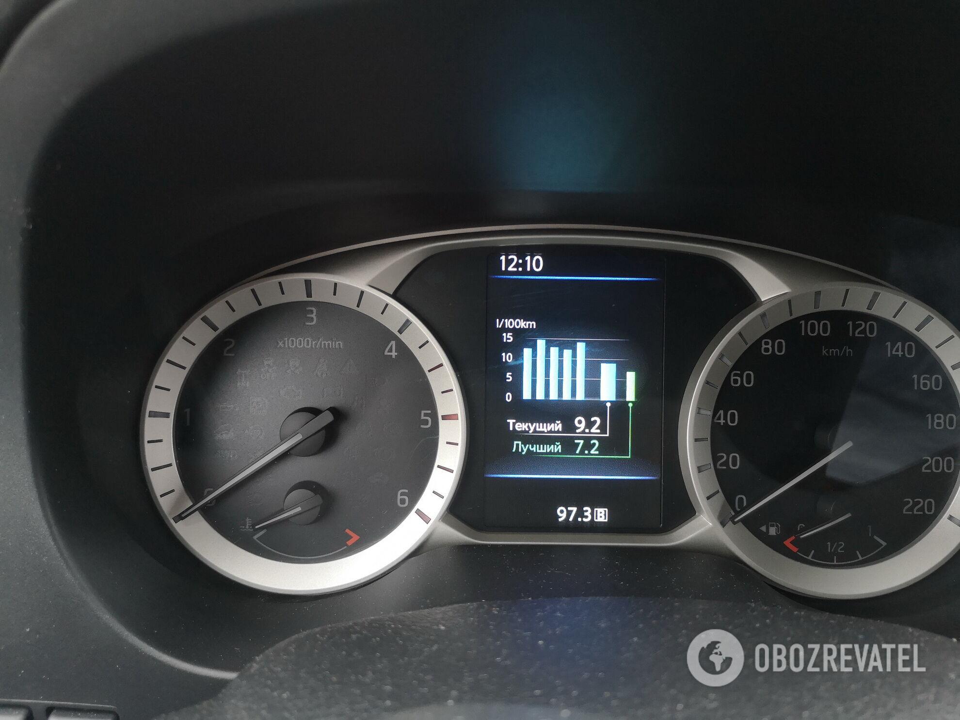 За время теста Navara подтвердила заявленные производителем показатели расхода топлива