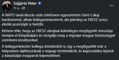 Угорщина викликала посла України та поскаржилася в ОБСЄ після обшуків на Закарпатті