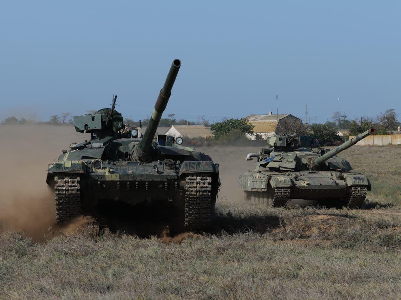 В программу учений танкистов ВСУ входила отработка элементов боя.