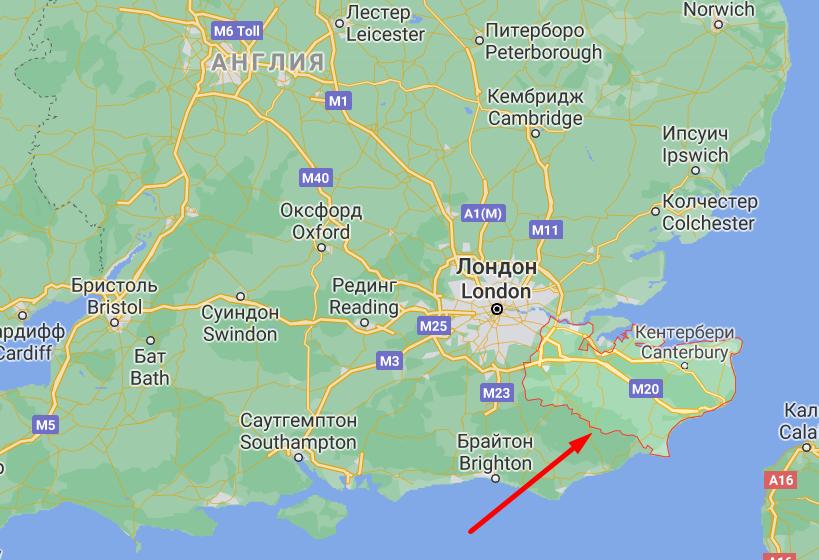 Графство Кент, где впервые обнаружили новую мутацию в Великобритании.