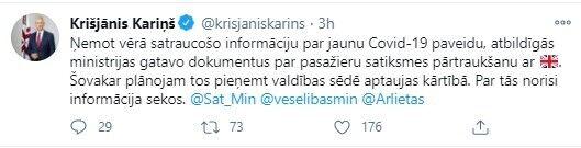 Латвія планує призупинити авіасполучення з Великобританією