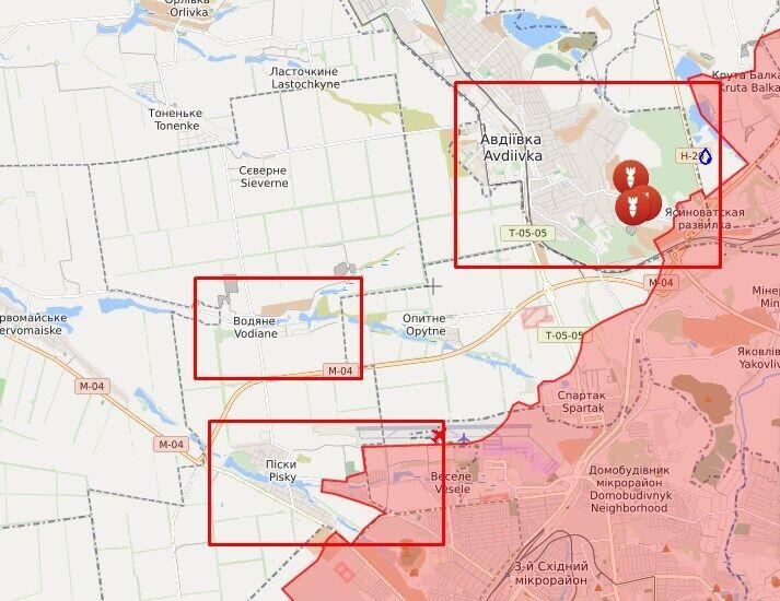 Оккупанты обстреливали позиции ВСУ в районе Песков, Авдеевки и Водяного.