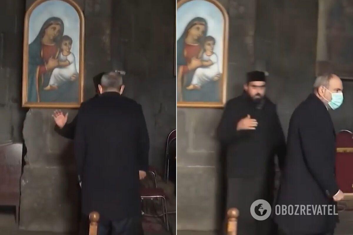 Скриншот з відео інциденту в церкві