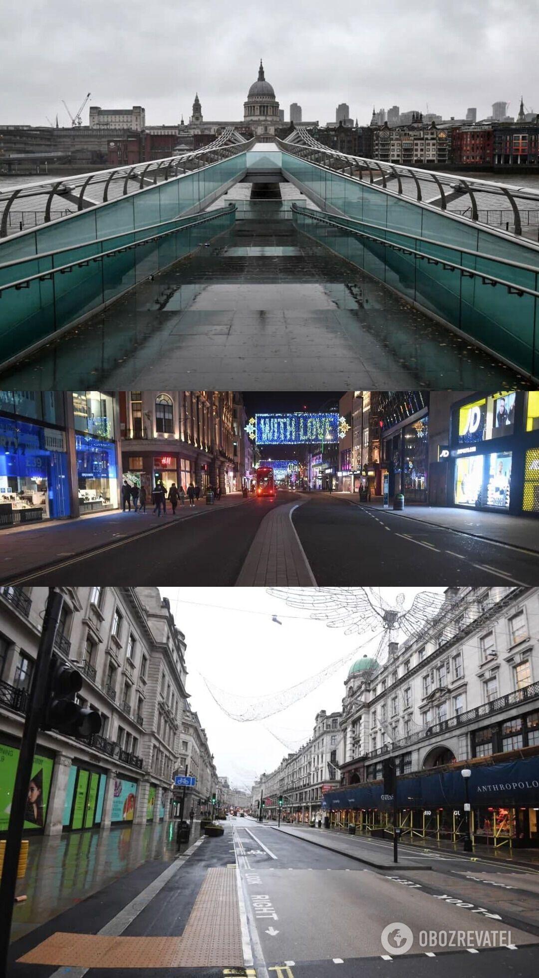 Лондон опустел после введения локдауна
