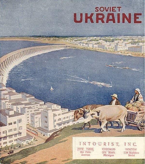"""Туристическая брошюра """"Советская Украина"""" от """"Интуриста"""", 1930-е годы"""
