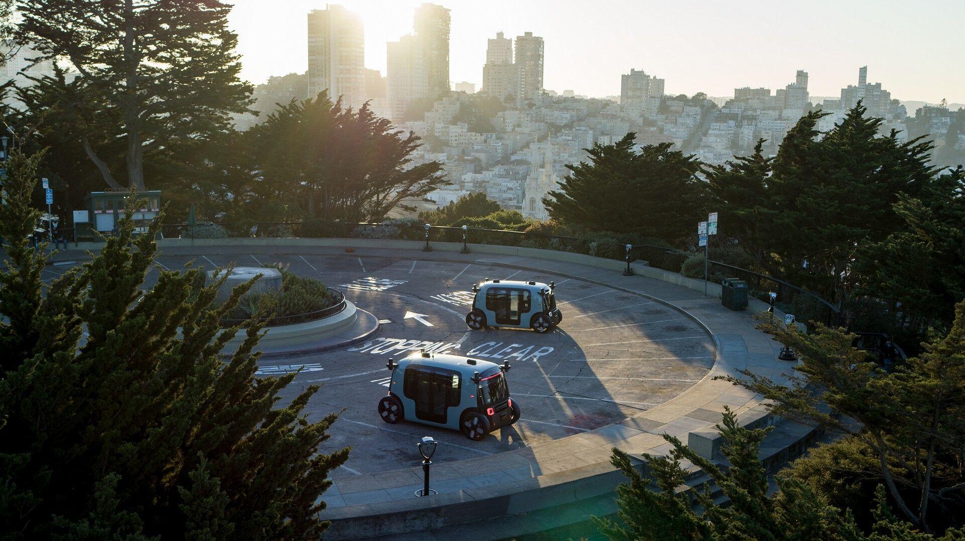Zoox Robotaxi на тесте в Сан-Франциско
