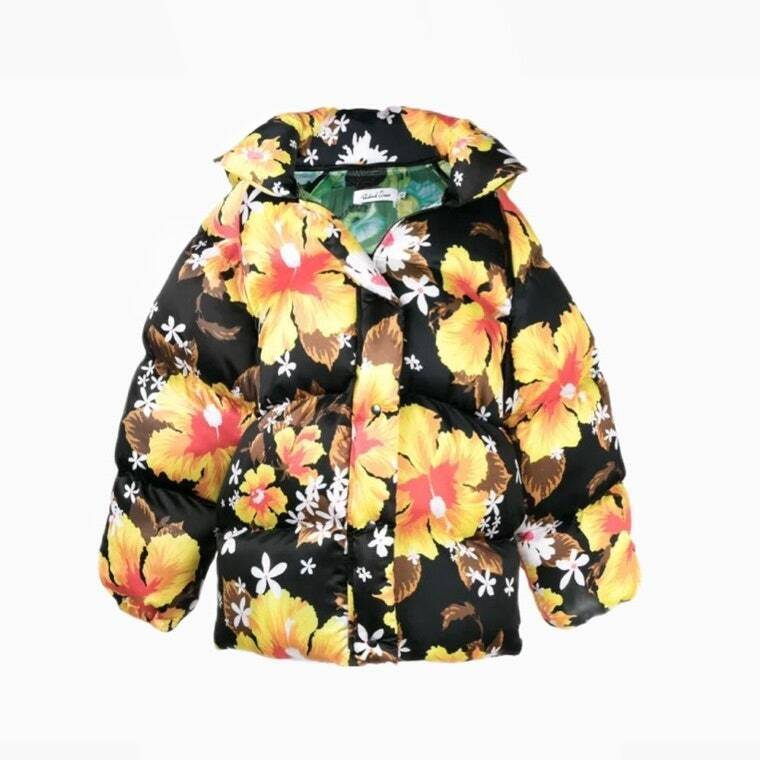 Модна куртка з квітковим принтом