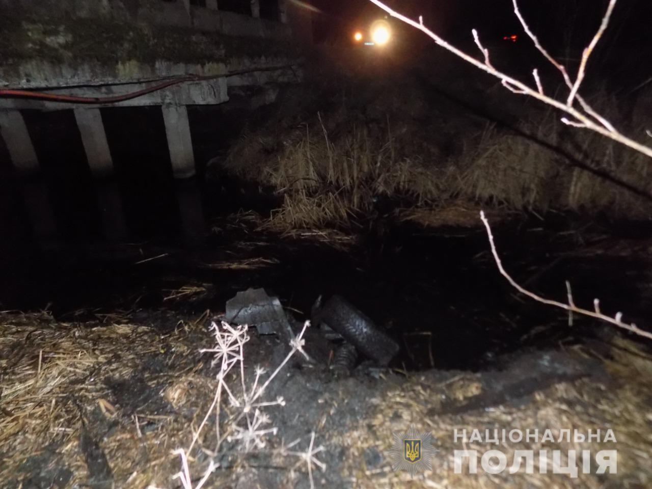 Под Львовом машина упала в реку