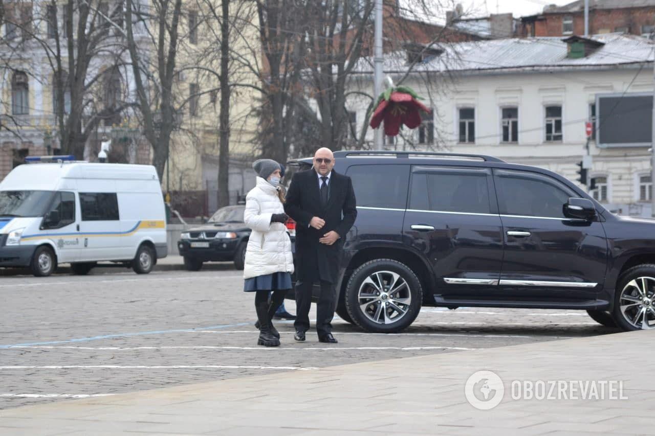 Михаил Добкин на похоронах