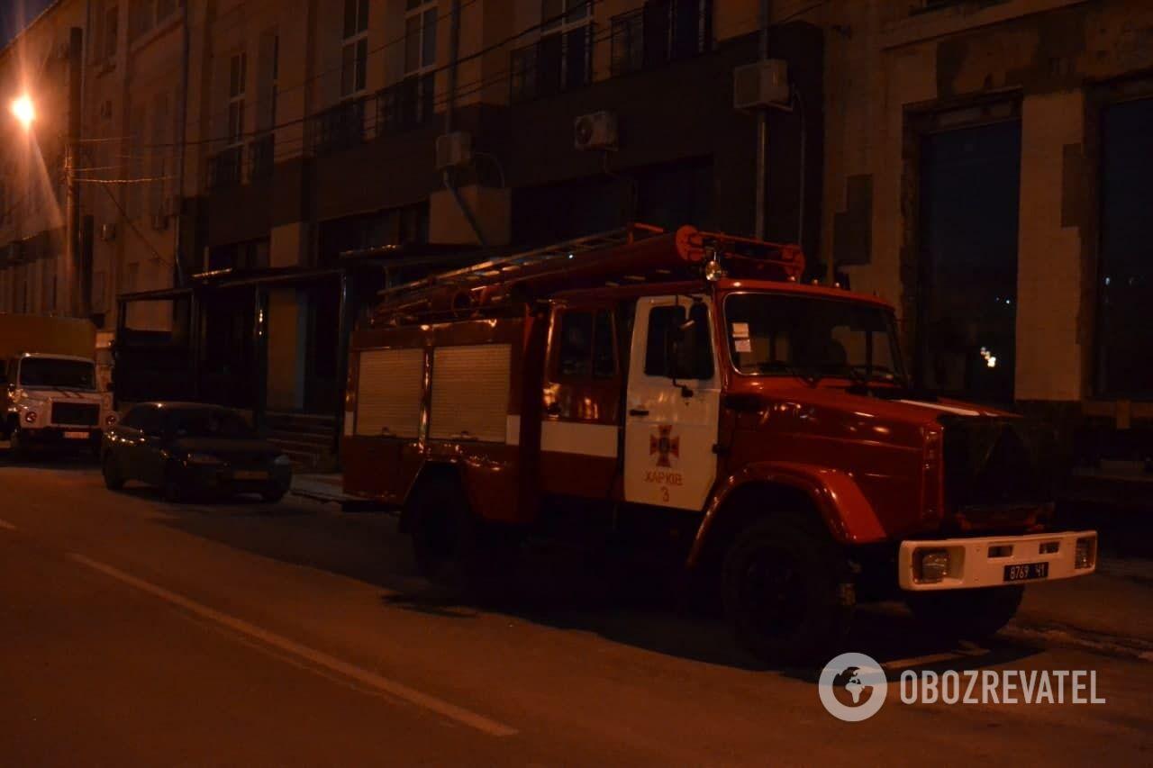 Пожарная машина в центре Харькова