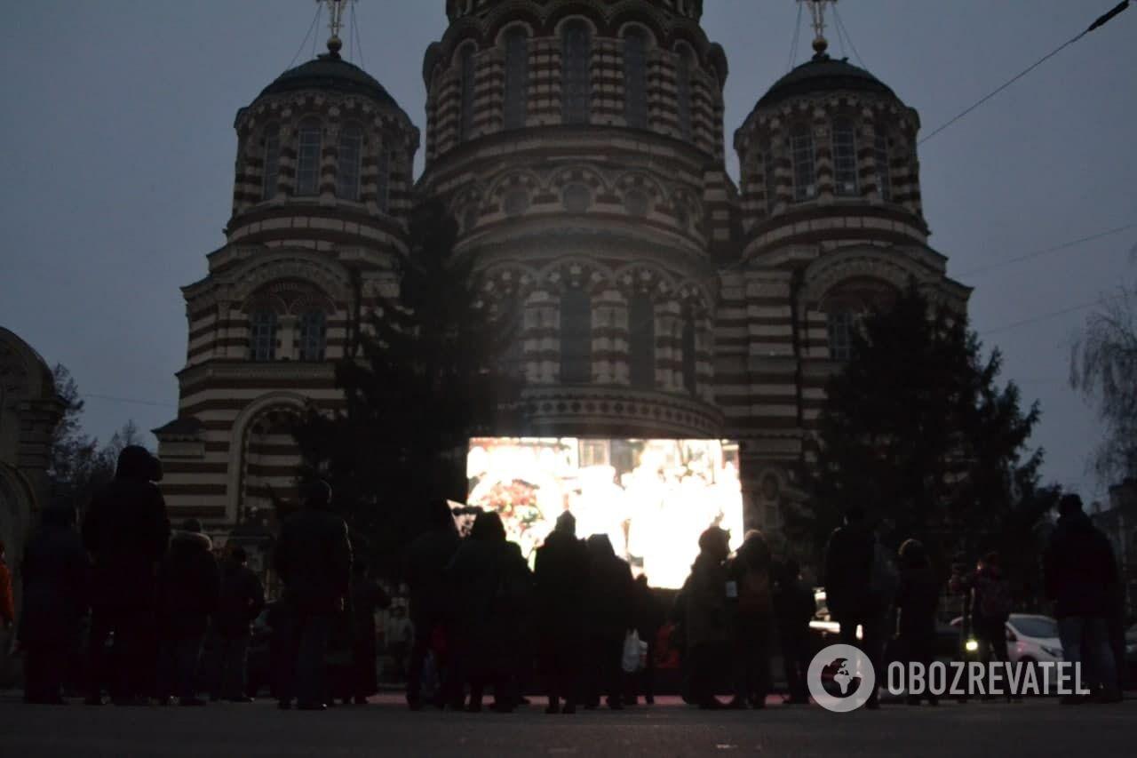Церковь, где отпевают мэра Харькова