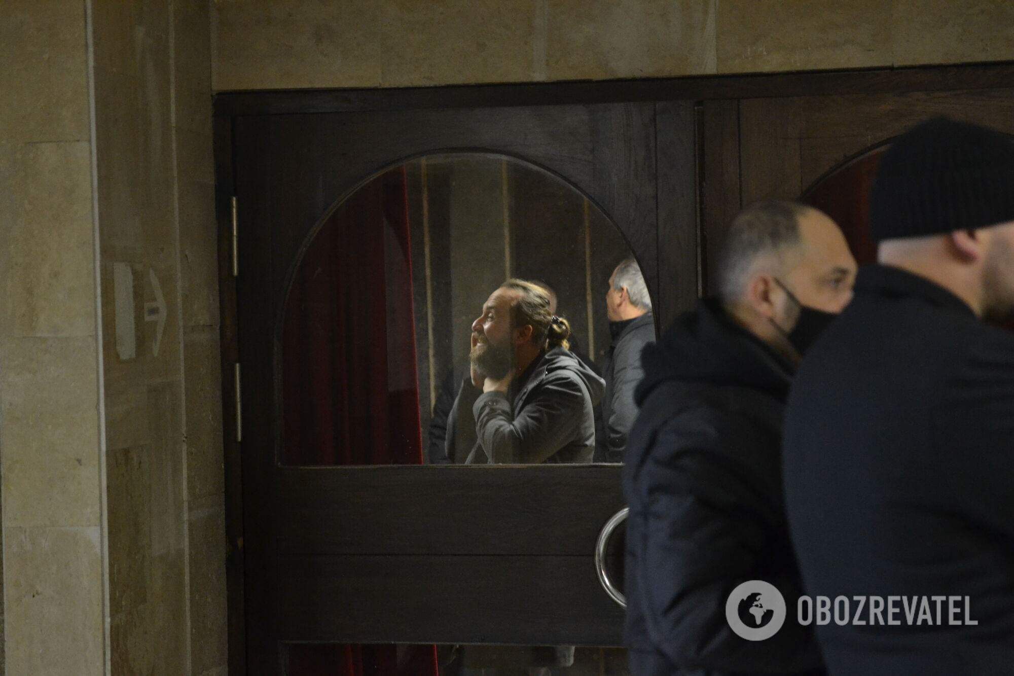 Кирилл Кернес на похоронах отца