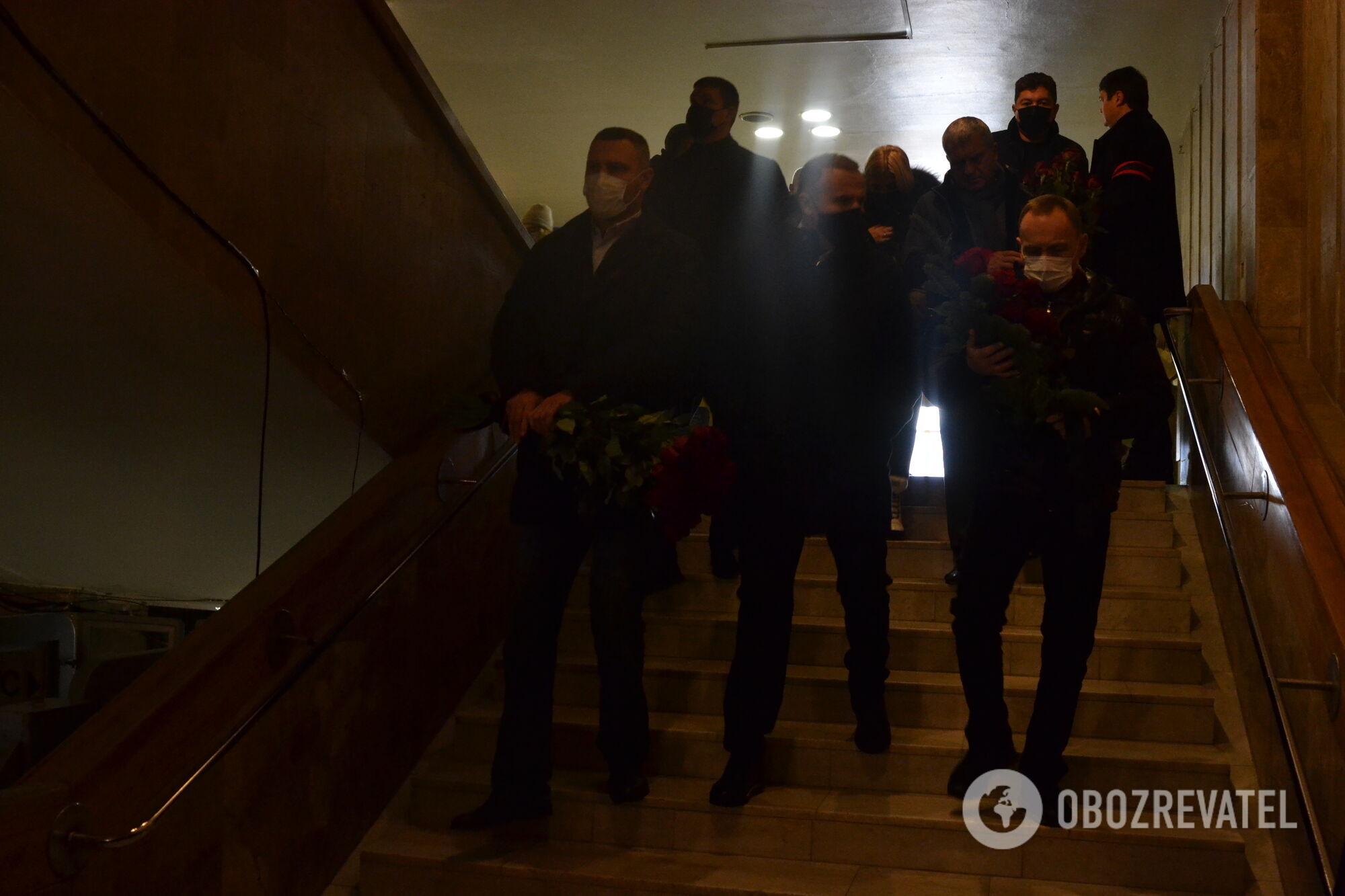 Віталій Кличко на похороні Геннадія Кернеса
