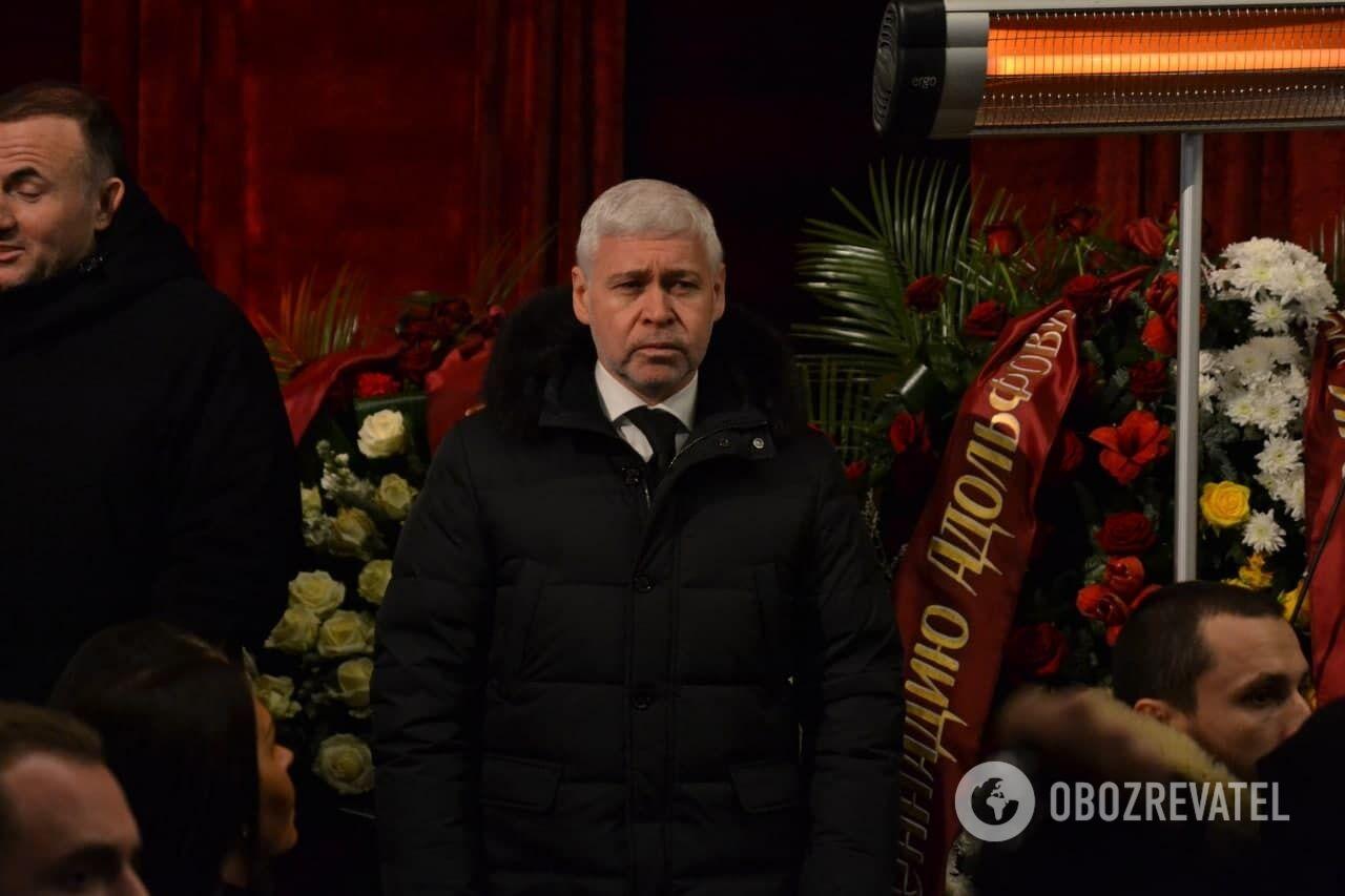 Ігор Терехов на похороні Кернеса