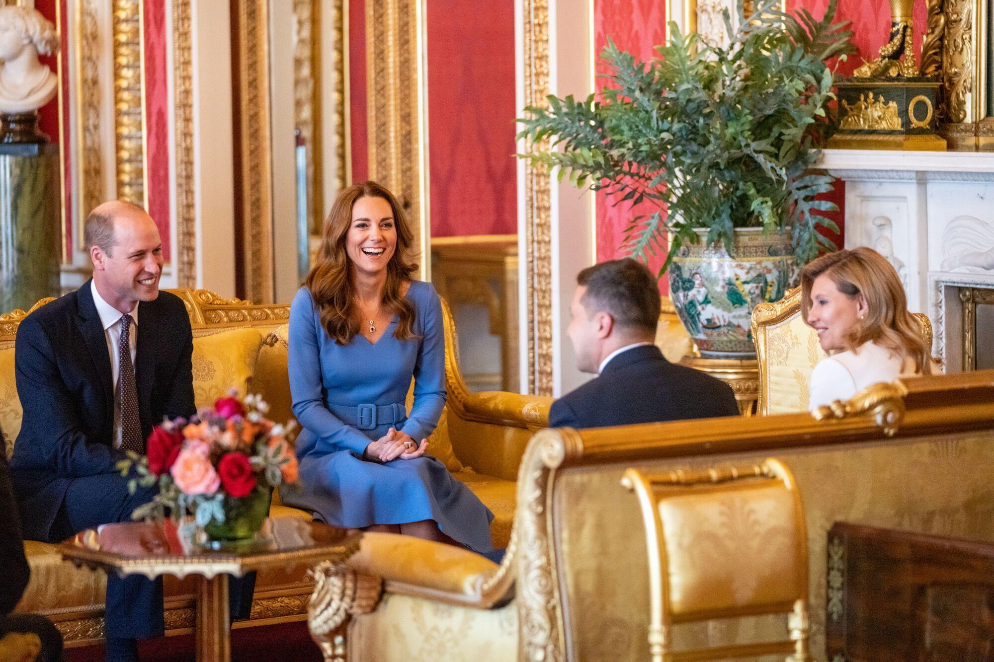 Елена и Владимир Зеленский на встрече с Кейт Миддлтон и принцем Уильямом