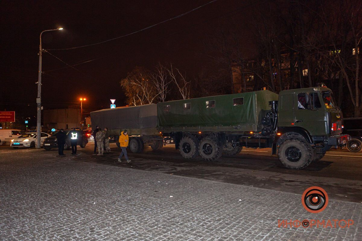 ДТП в Днепре с грузовиком военных