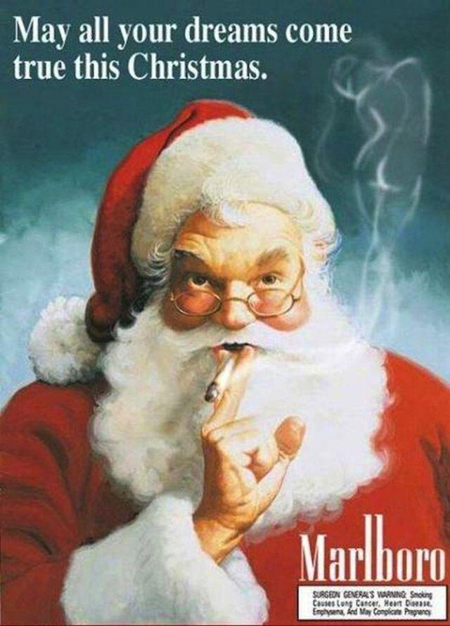 Опубликована скандальная винтажная реклама на Рождество