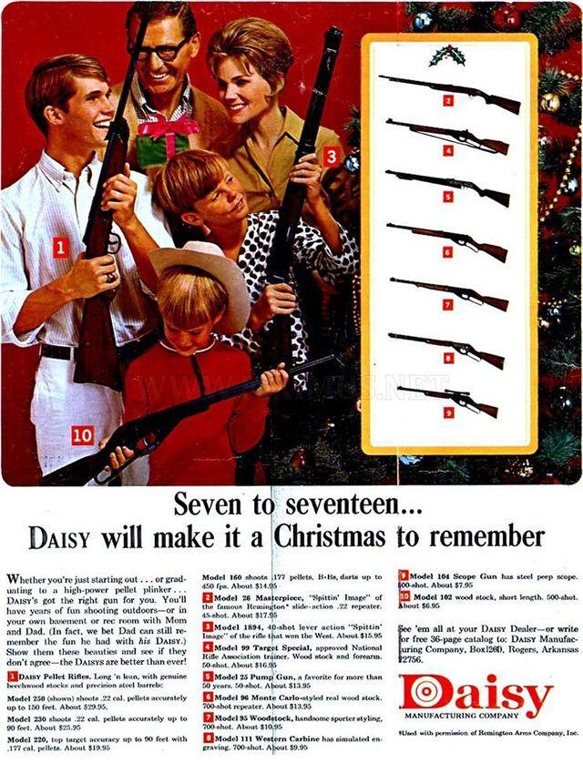 Реклама оружейной фирмы Daisy