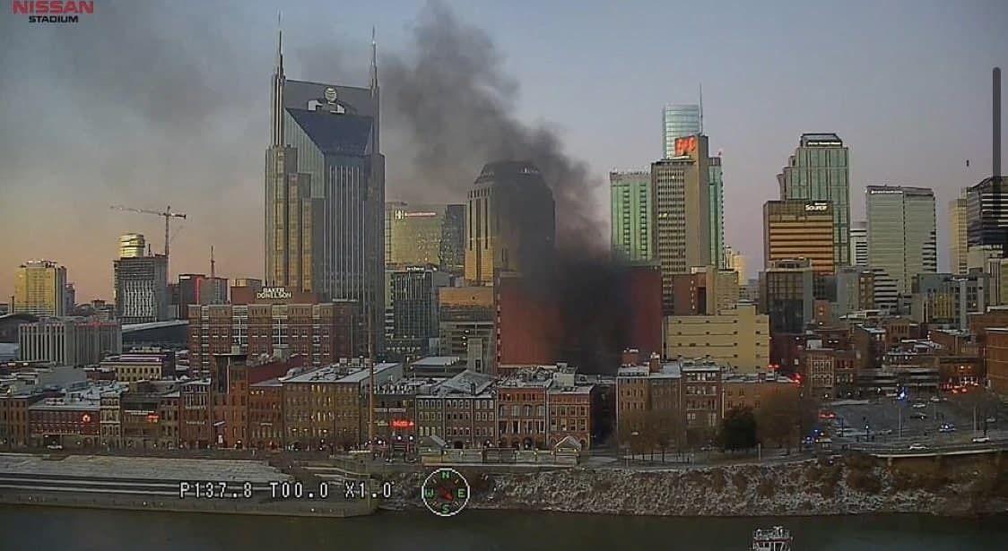 Густым дымом затянуло центр города