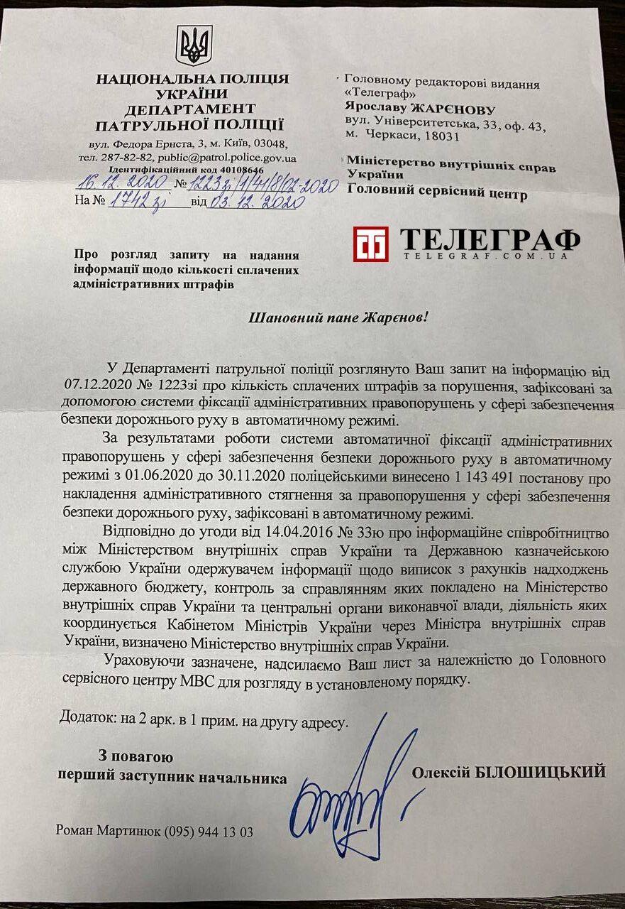 В Украине зафиксировали более 1,1 миллиона нарушителей ПДД