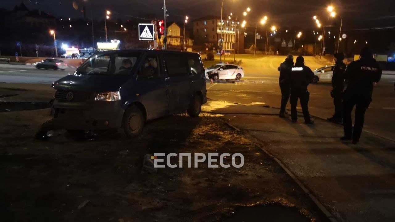 Авария в Киеве.