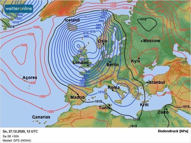 Со вторника в Украине ожидается потепление
