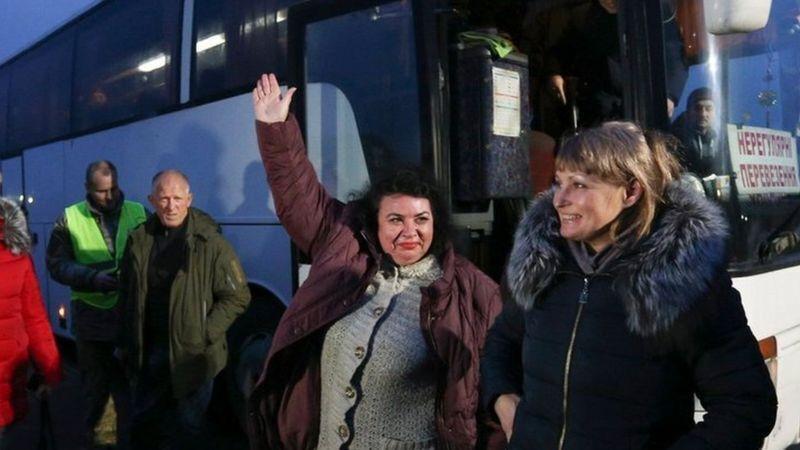 Наталья Карачор в день освобождения