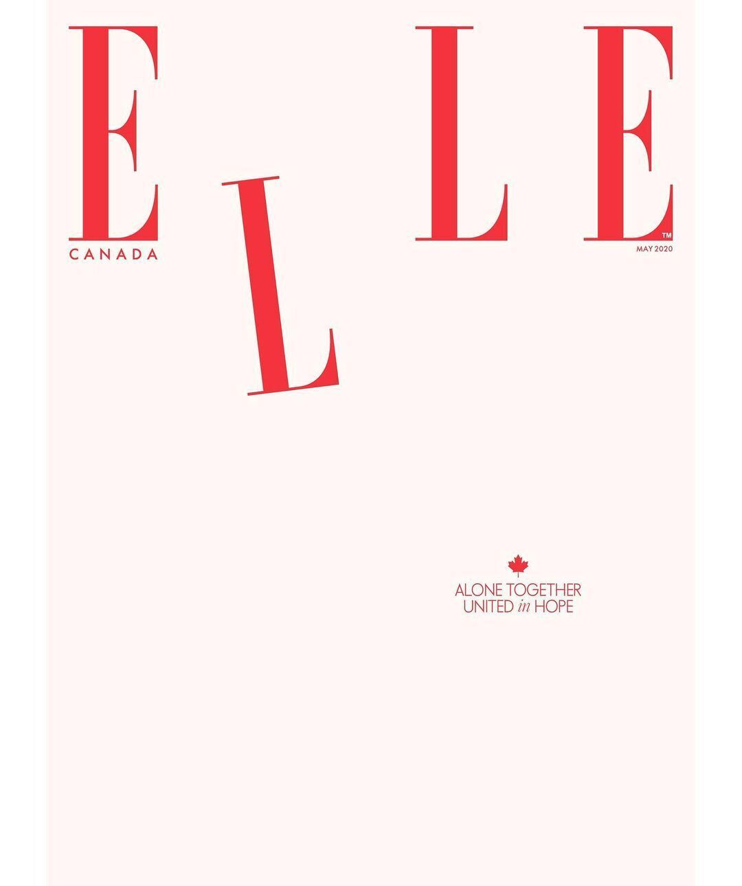Пустая обложка Elle
