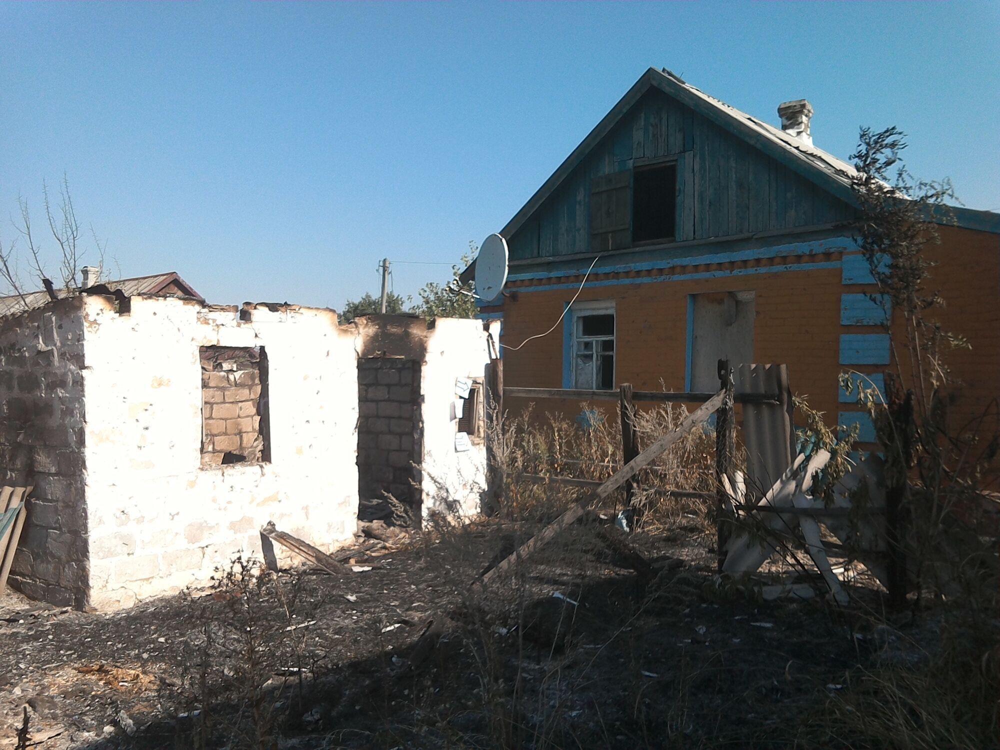"""До начала перемирия в жилые дома в Зайцево """"прилетало"""" регулярно"""