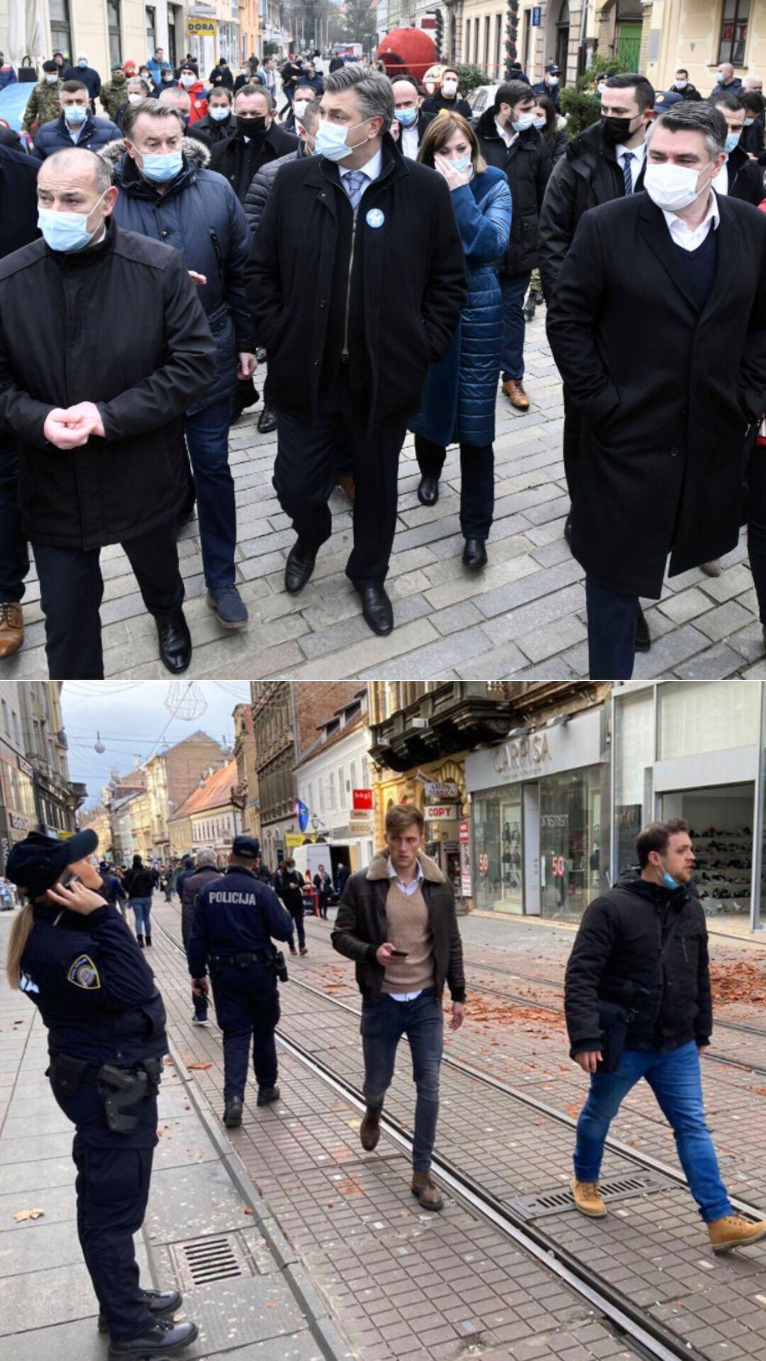 Представители хорватского правительства прибыли в Петриньи после землетрясения
