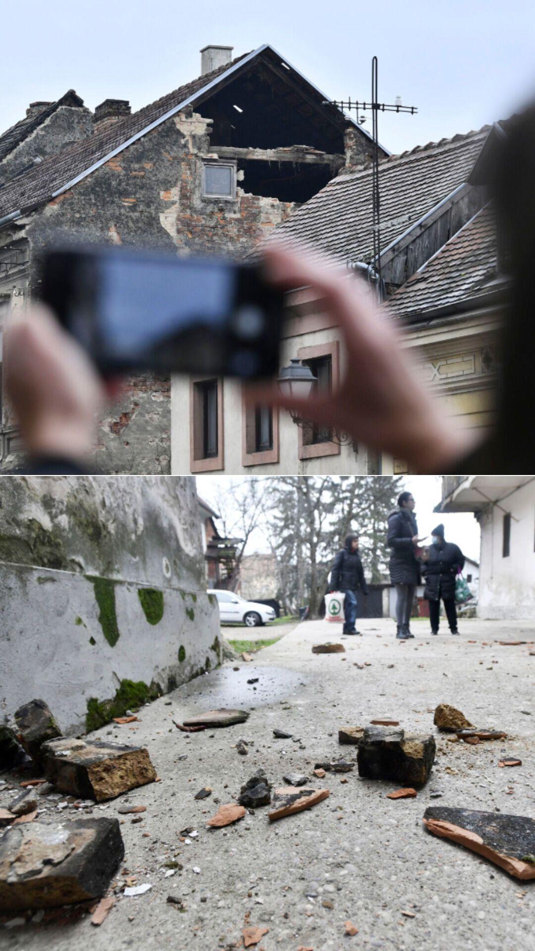 От землетрясения больше всего пострадал город Петринья