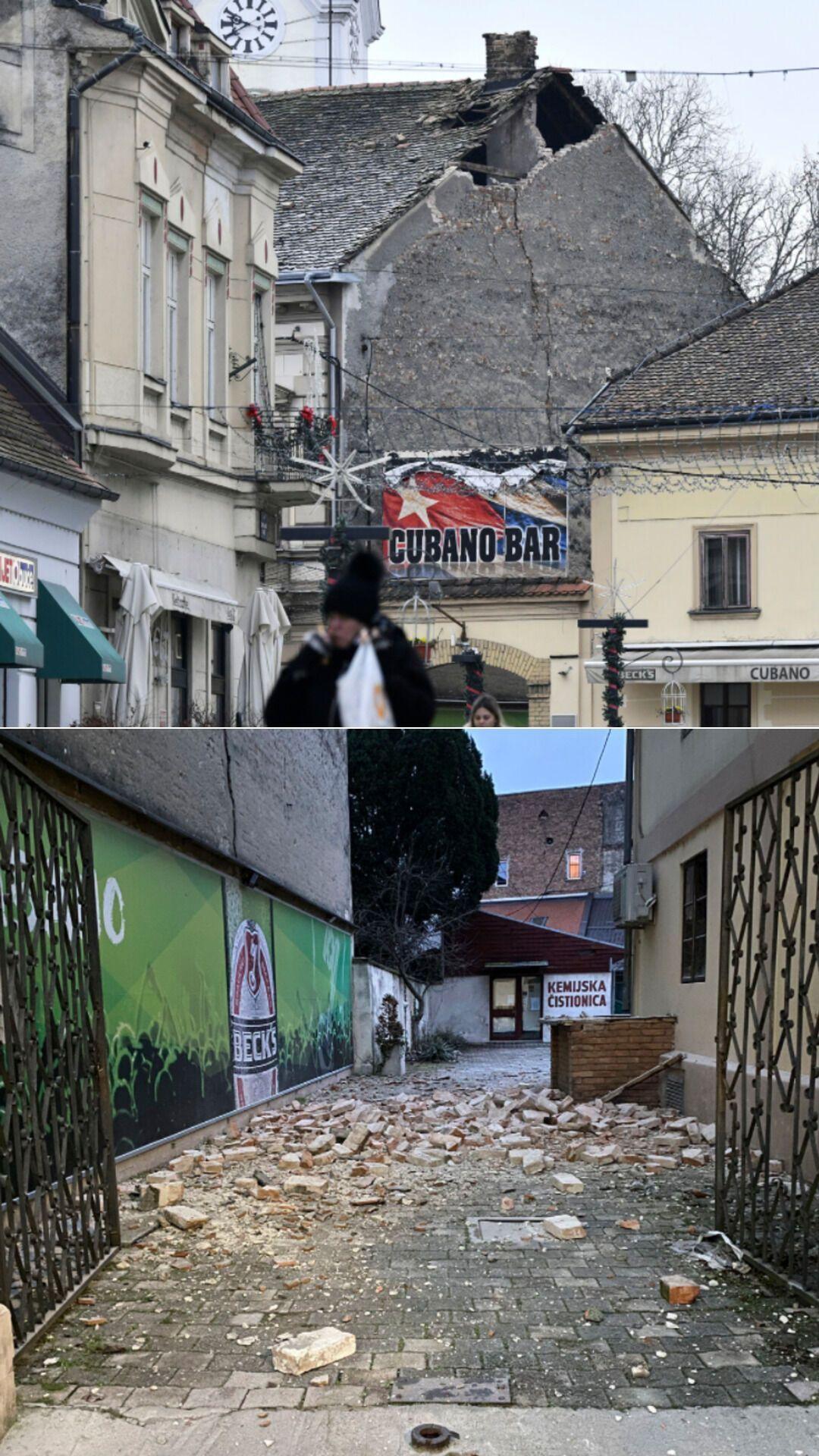 Последствия землетрясения в Петриньи