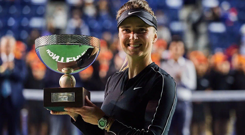 Свитолина после победы на турнире в Монтеррее.