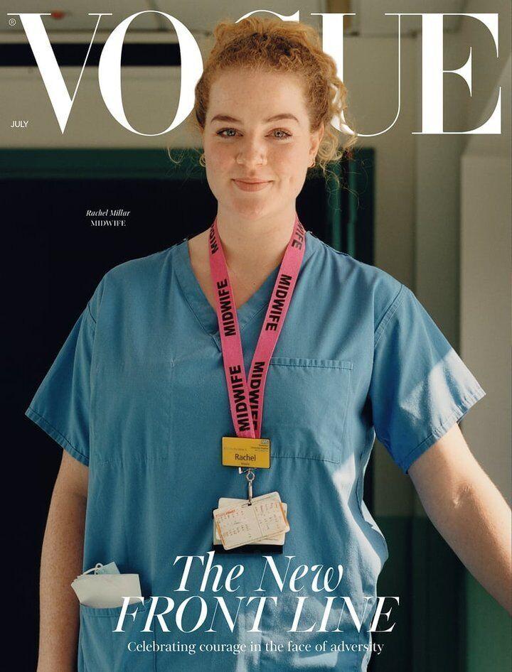 Июльская обложка британского Vogue