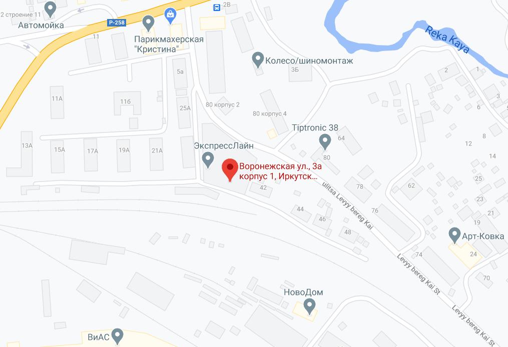 Місце НС в Іркутську