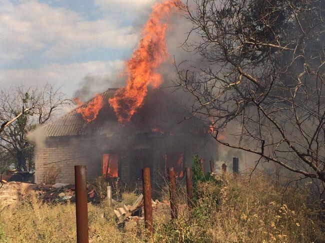 Вследствие поджогов, совершенных террористами, в Зайцево горели жилые дома