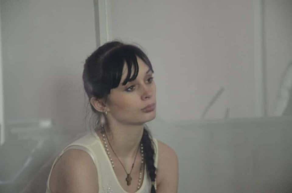 Кристина Антонова на заседании суда.
