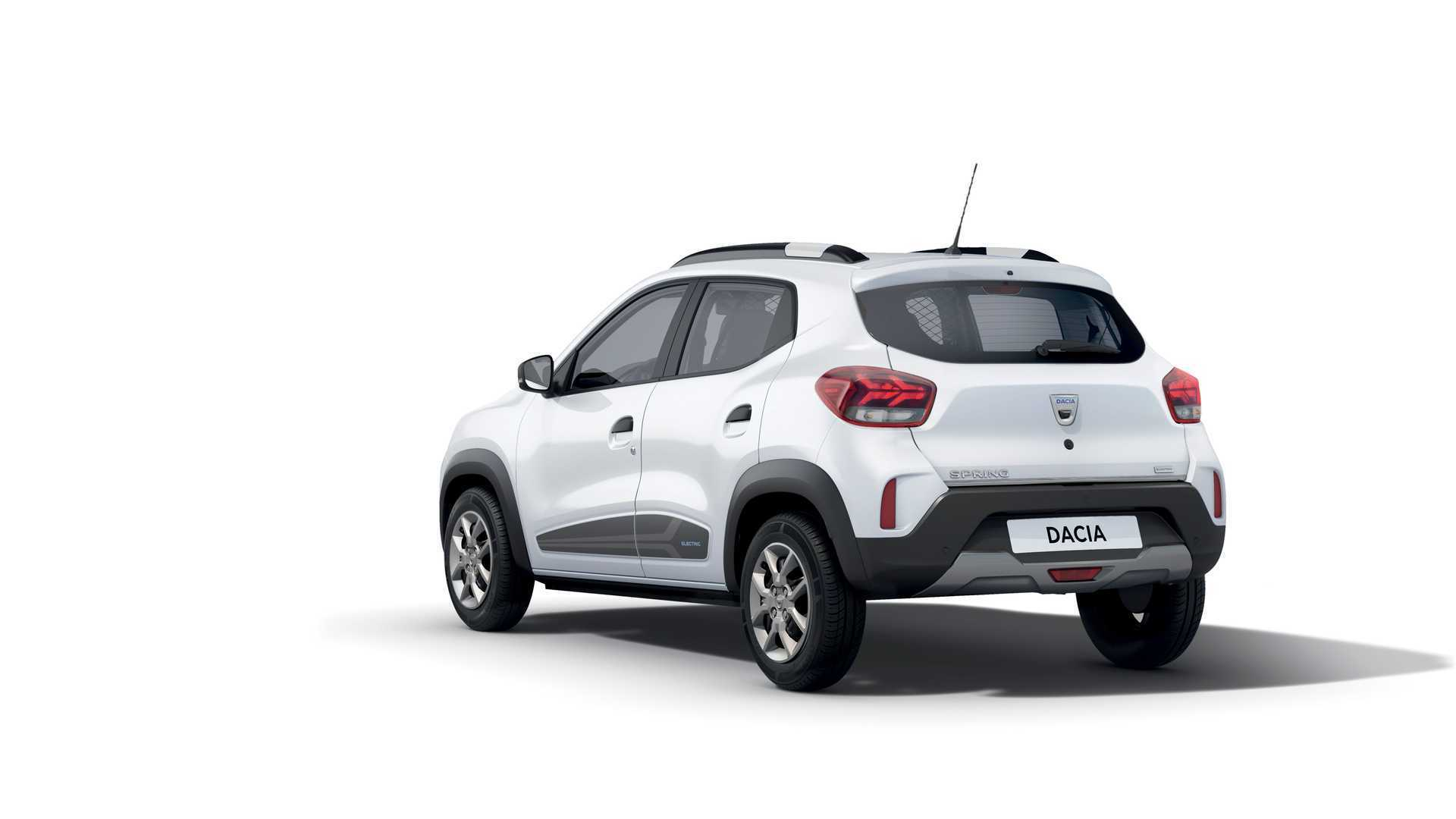 Dacia Spring виконаний у стилістиці інших моделей бренду