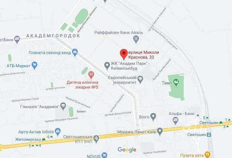 Участок расположен на улице Краснова, 33.